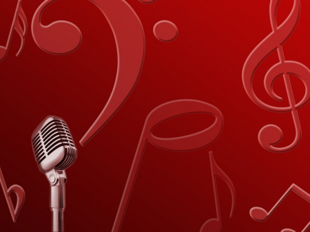 Red music - Music & Entertainment Background Wallpapers on Desktop