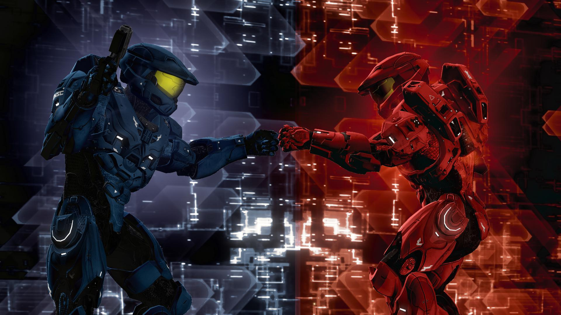 Red Vs Blue Backgrounds Sf Wallpaper