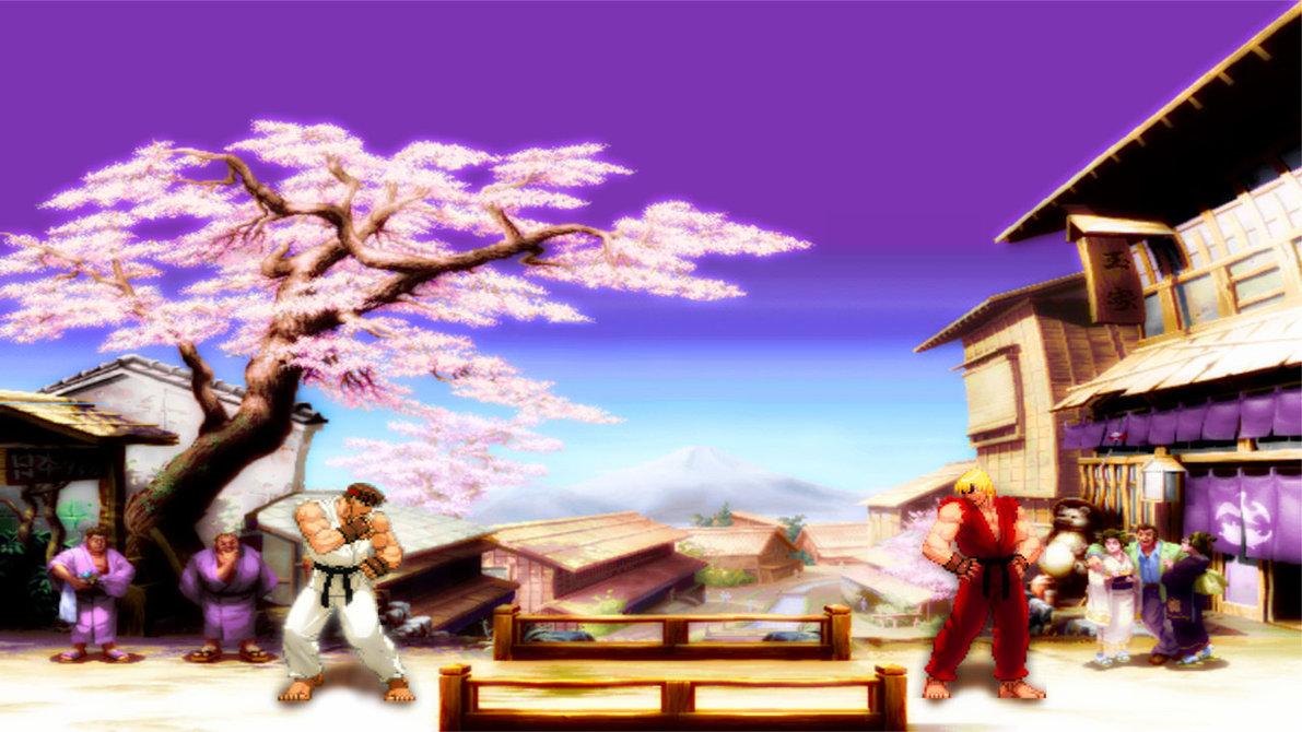 ryu vs ken wallpaper - sf wallpaper
