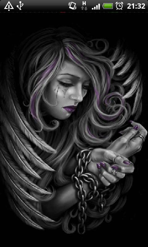 Dark angel wallpaper for mobile tips cepat - Sad angel wallpaper ...