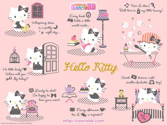 Hello Kitty (Sanrio) Wallpaper | Hello Kitty Kitch | Pinterest