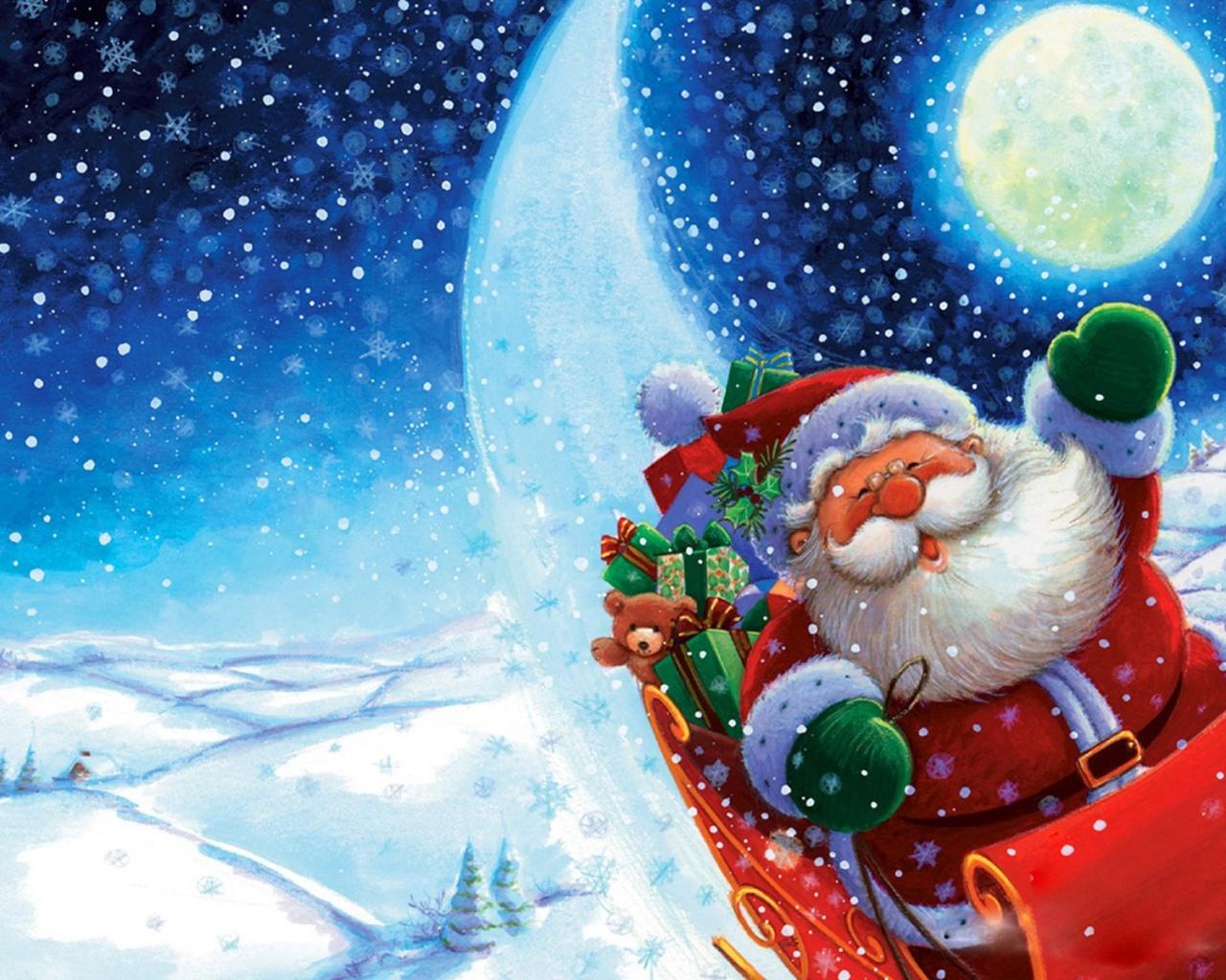 Santa wallpaper free