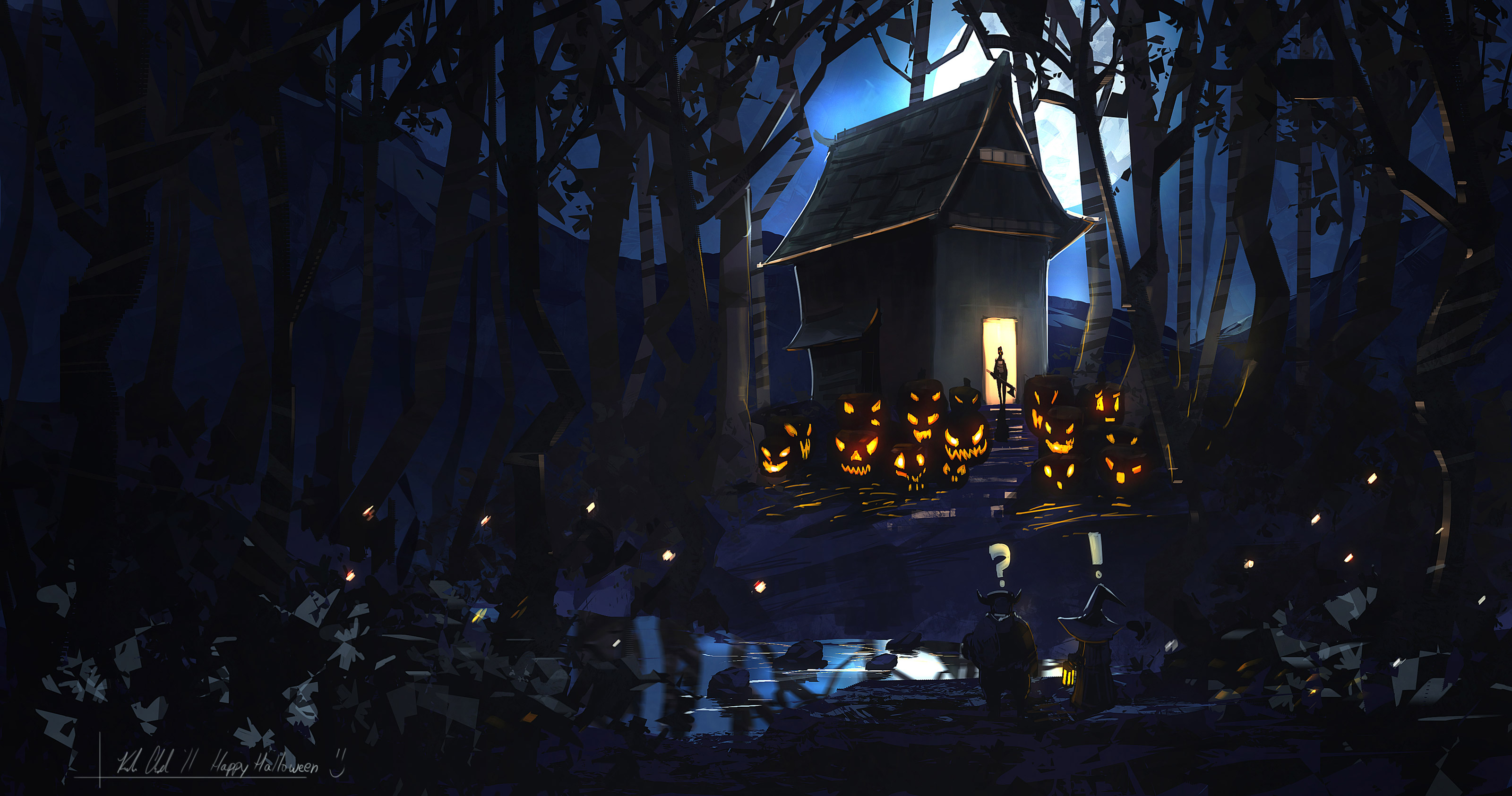 Free Scary Halloween Backgrounds & Wallpaper Collection 2014