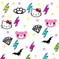 Hello Kitty Super Kawaii Scene Kid Background Wallpaper Rawr