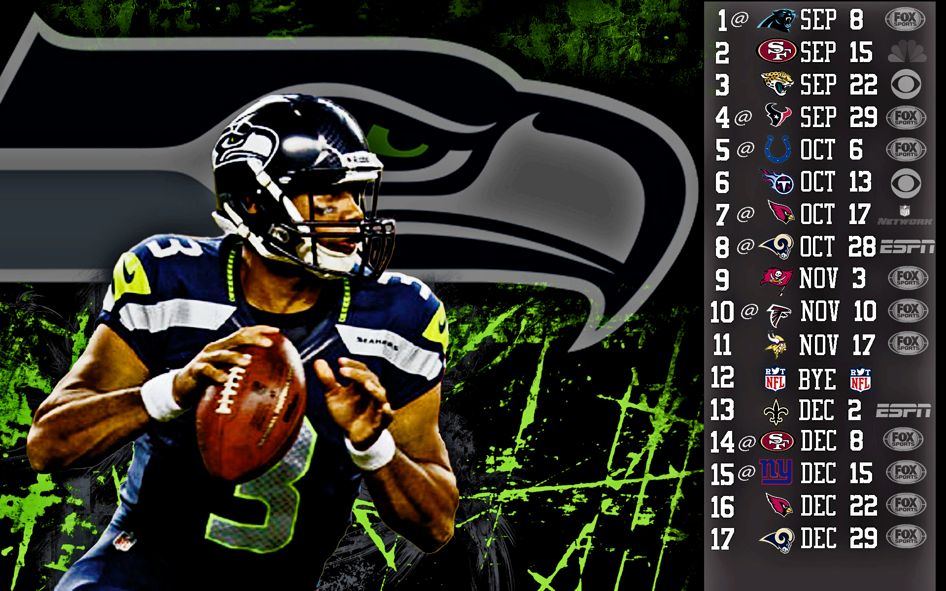 Seattle Seahawks Schedule Wallpaper