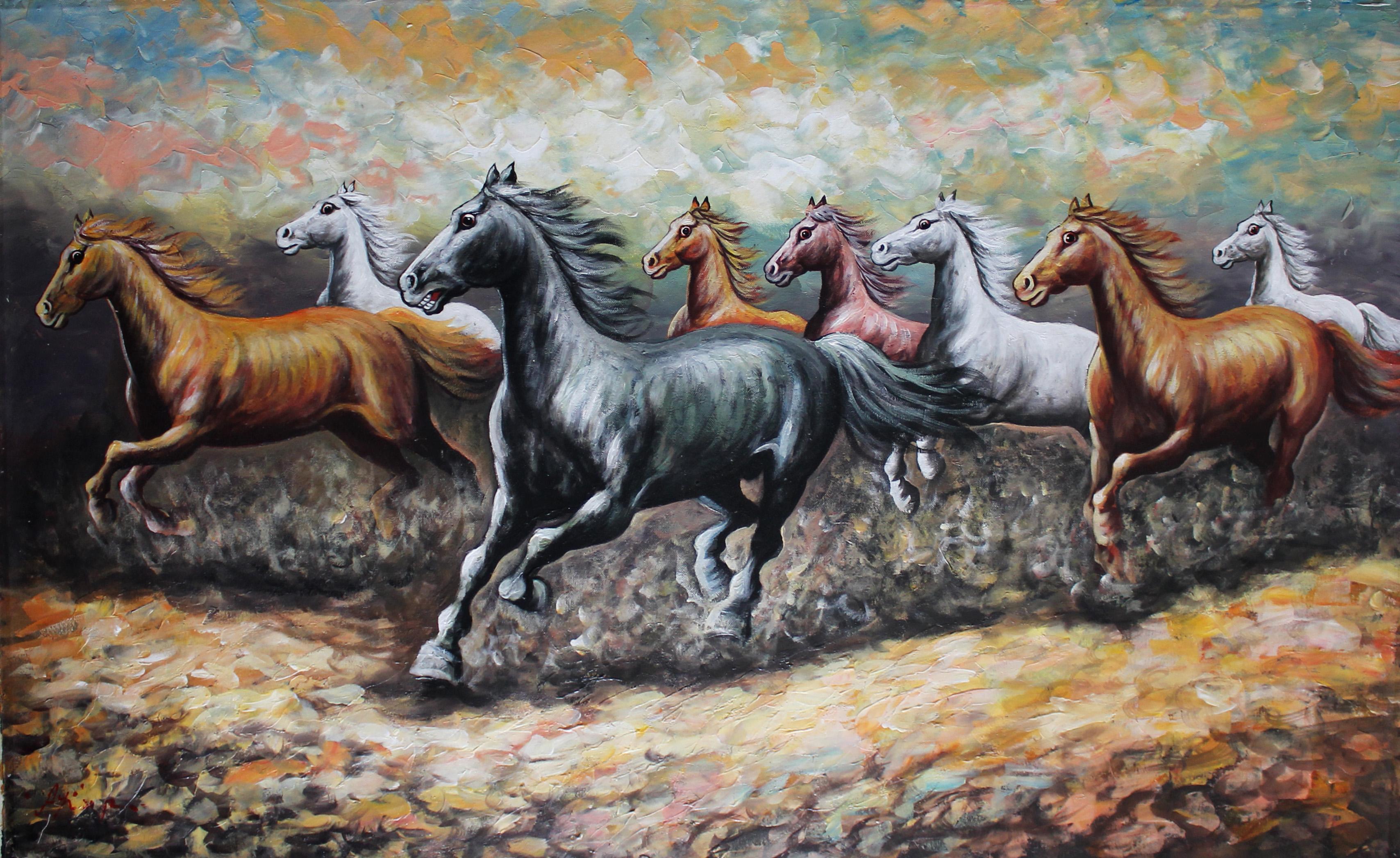 7 Horses Wallpaper Download Hd Wallpaper For Desktop Background