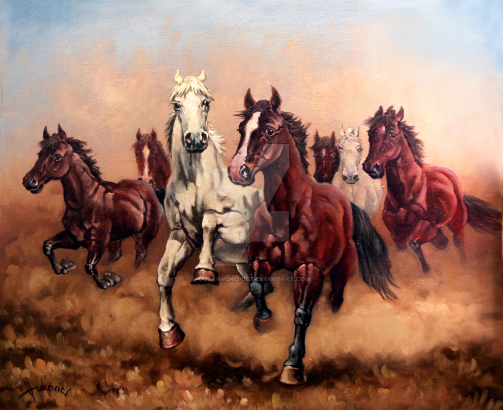 Seven Horse Wallpaper Sf Wallpaper