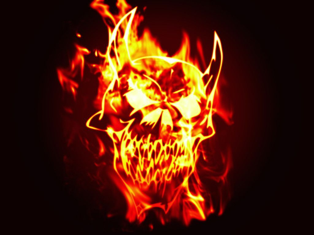 Fire Skull Wallpapers - Wallpaper Cave