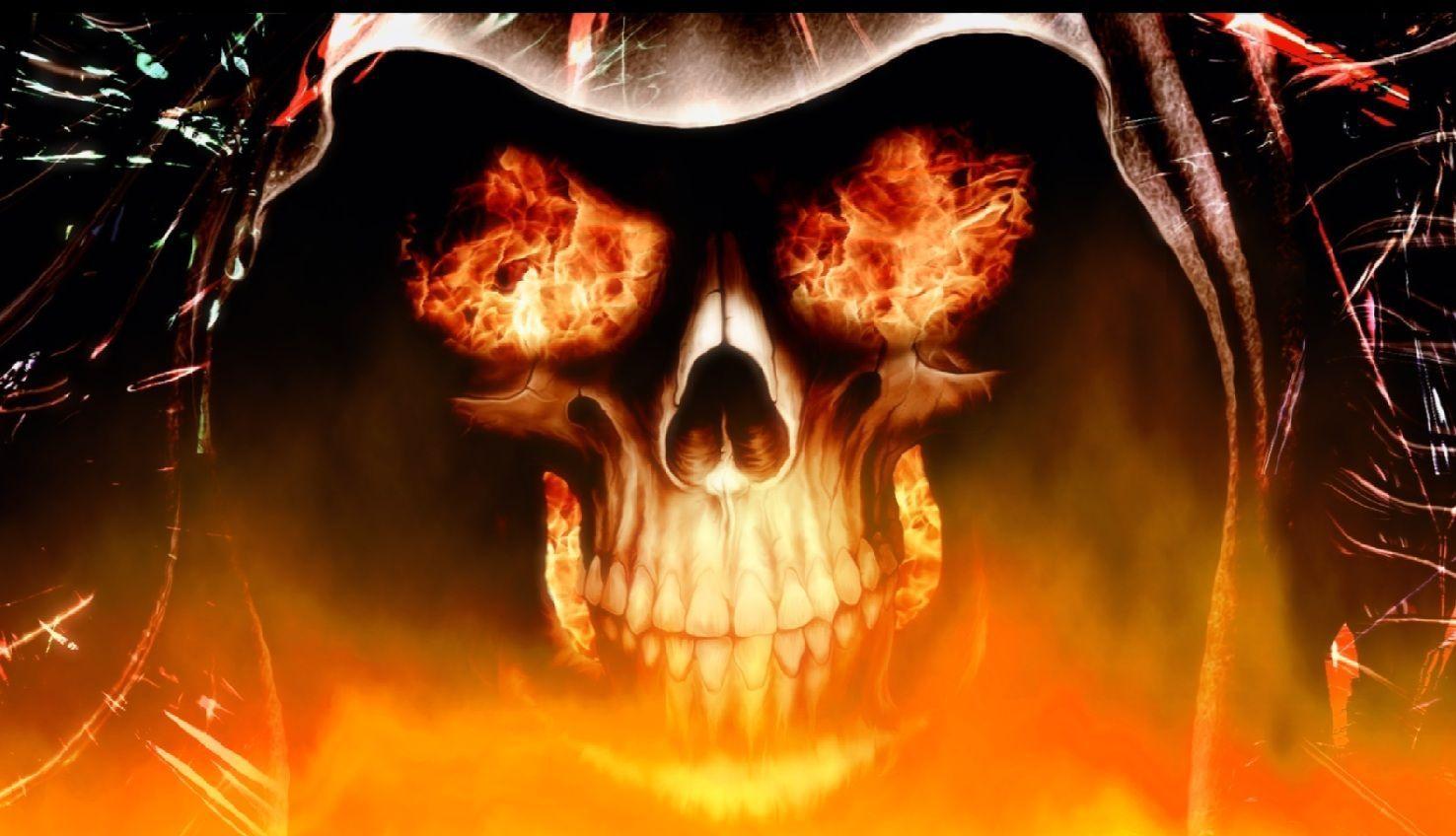 Skull Fire Wallpapers - Wallpaper Cave