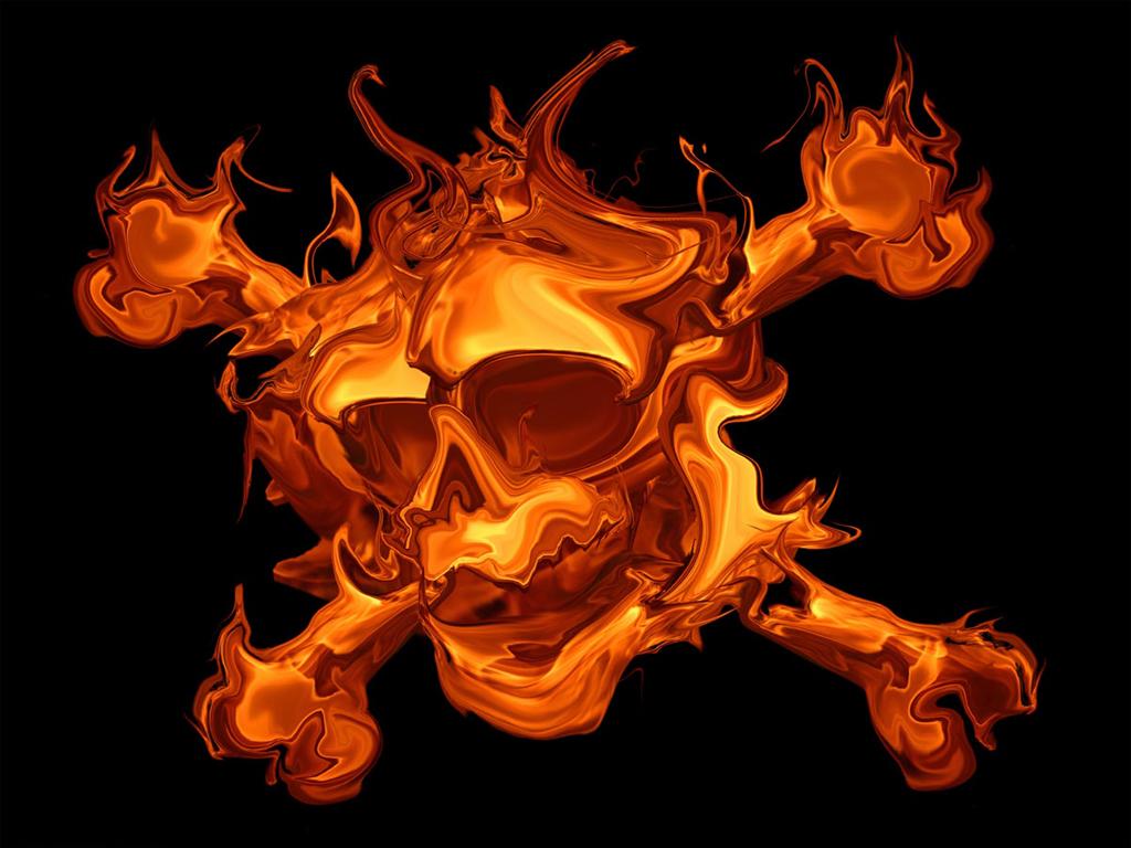 scary skulls images | Free Skullls Fire Skull X Scary Monster