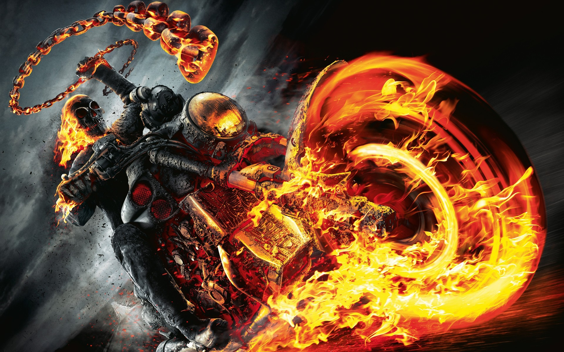Skulls On Fire Wallpaper - WallpaperSafari