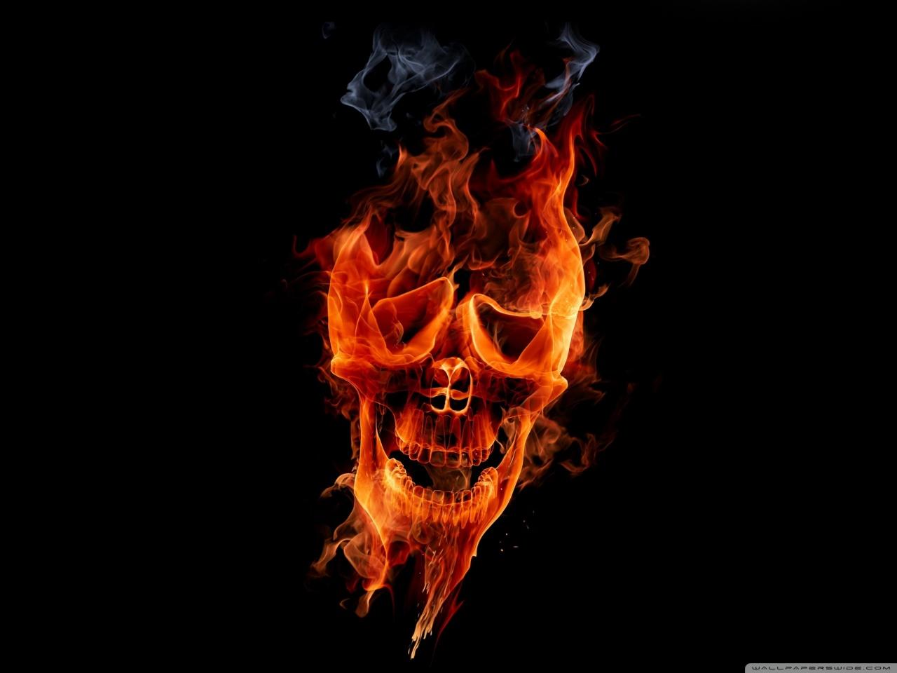 Fire Skull HD desktop wallpaper : High Definition : Fullscreen