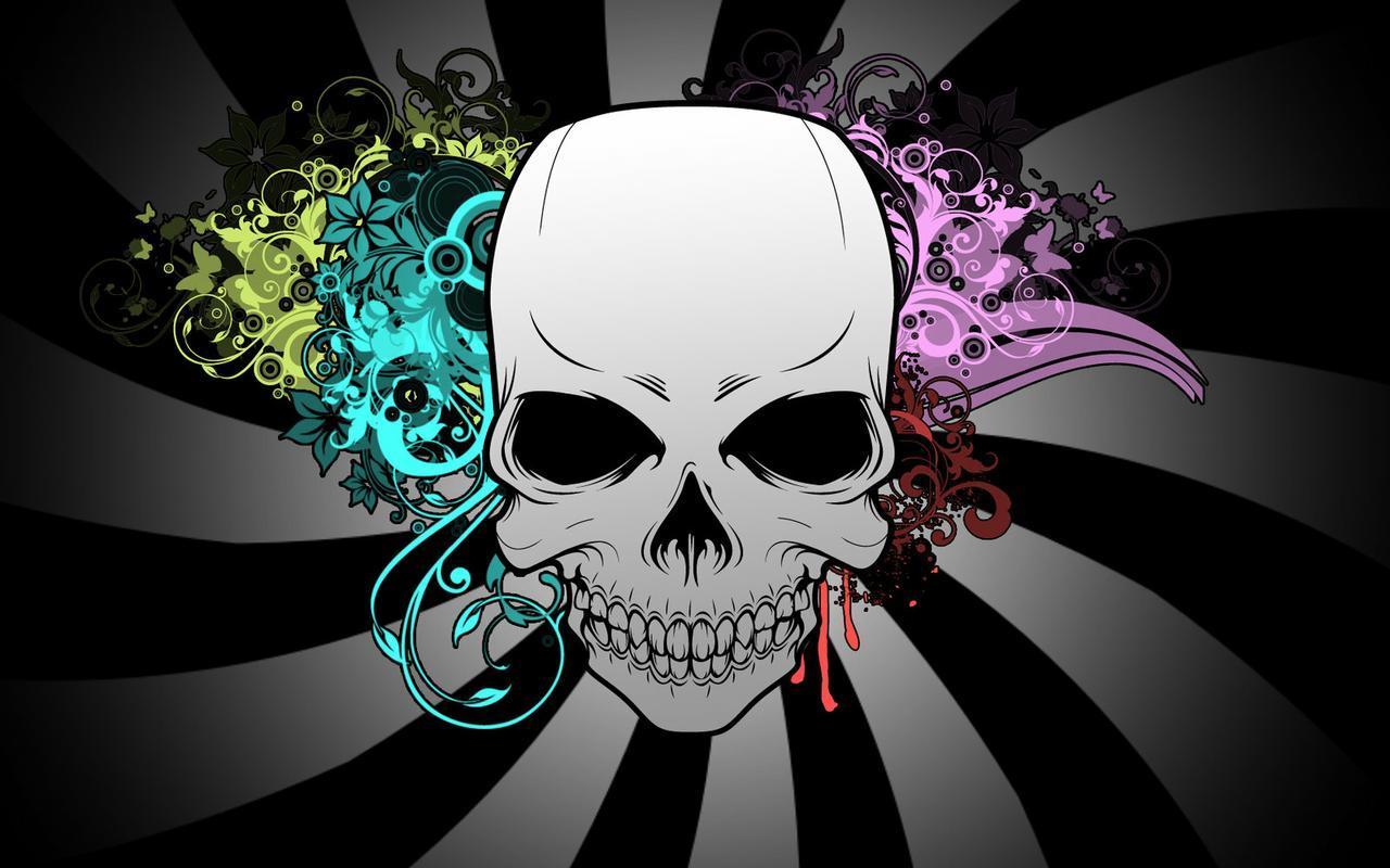 Skull Wallpaper For Girls