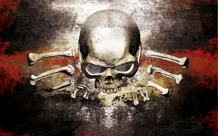 skull and bones - 3D and CG & Abstract Background Wallpapers on