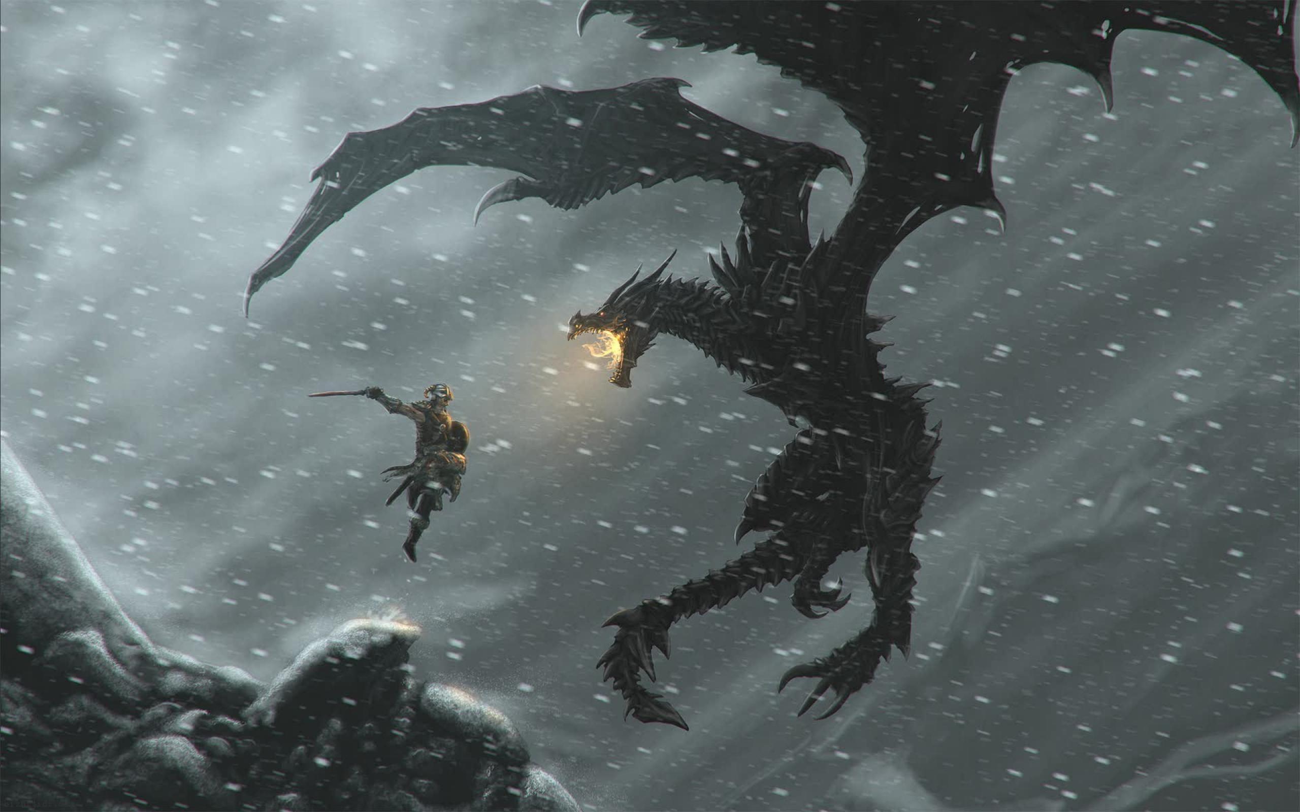 Skyrim Dragon Wallpapers - Wallpaper Cave
