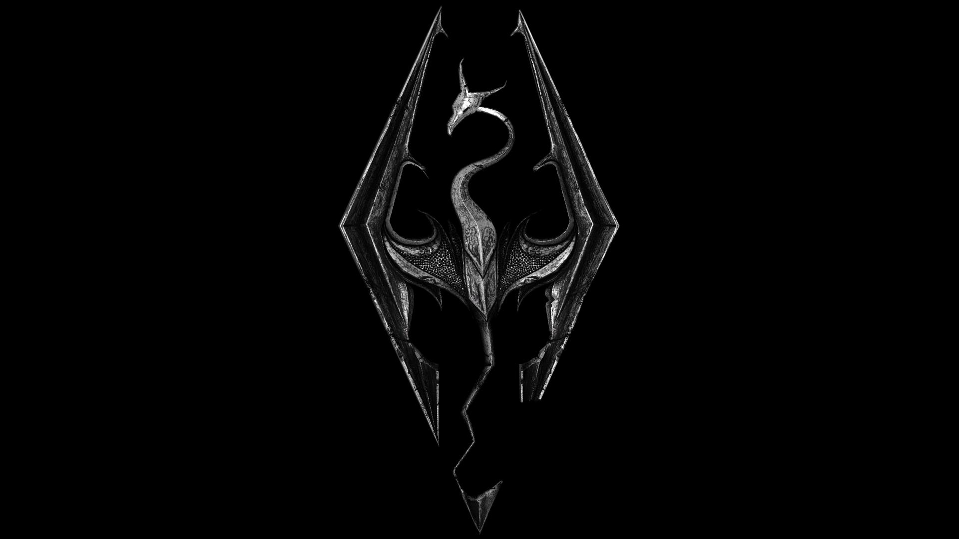 skyrim logo wallpaper - sf wallpaper
