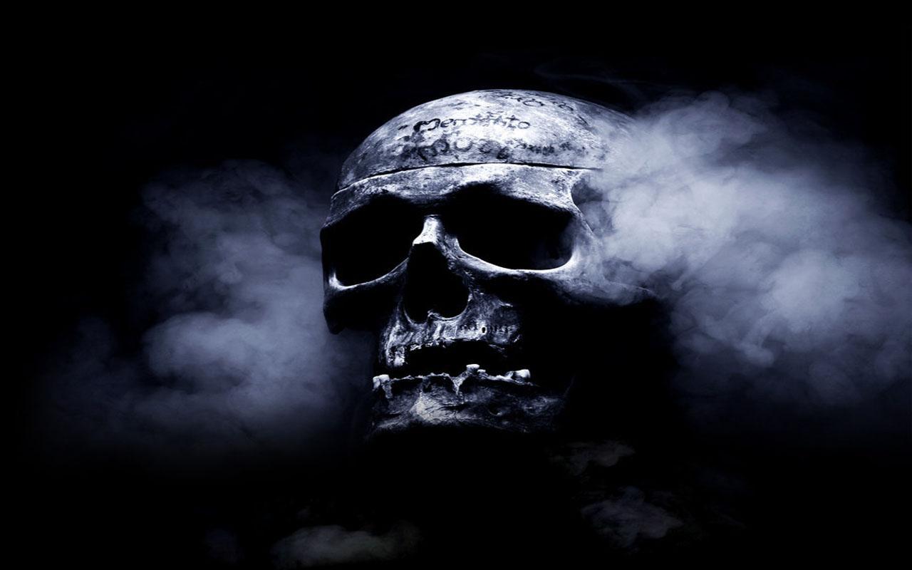 smoking skull wallpaper - sf wallpaper
