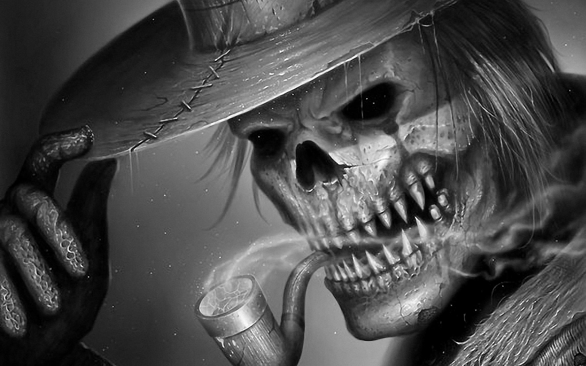 Most Inspiring Wallpaper Halloween Skeleton - smoking-skull-wallpaper-21  Photograph_81521.jpg