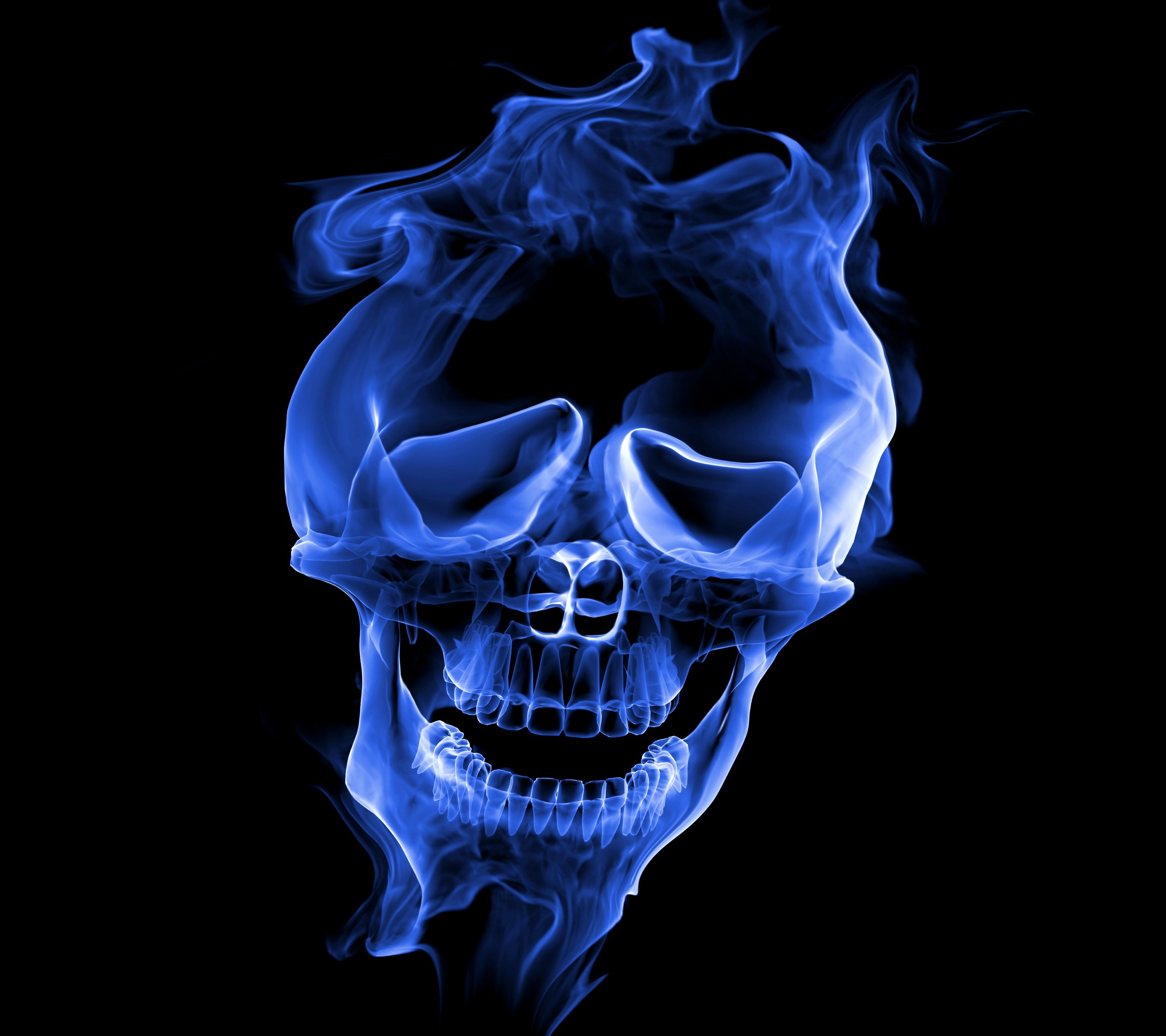 Smoke Skull Wallpaper 10398377