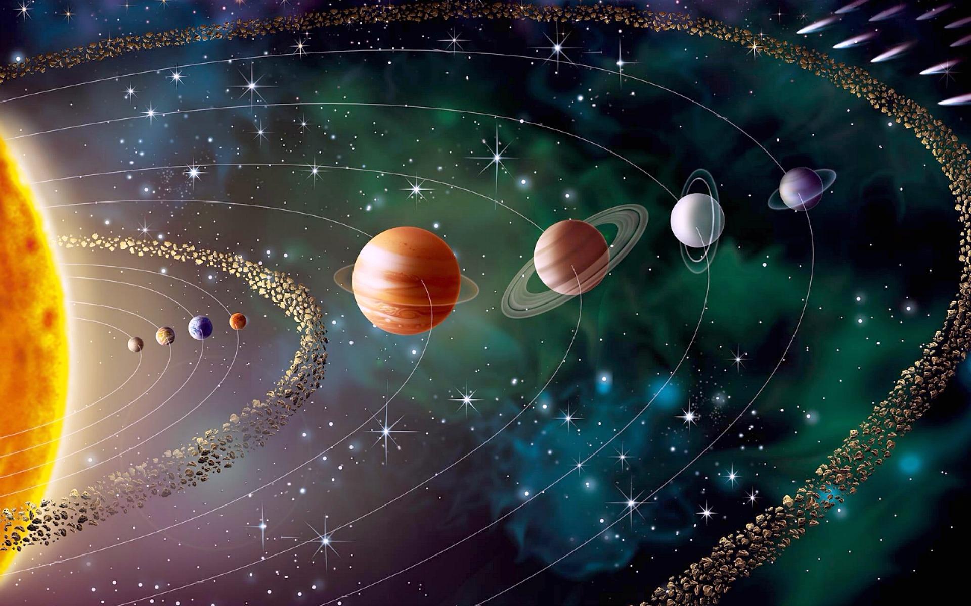 Solar System Desktop Background HD 1920x1200