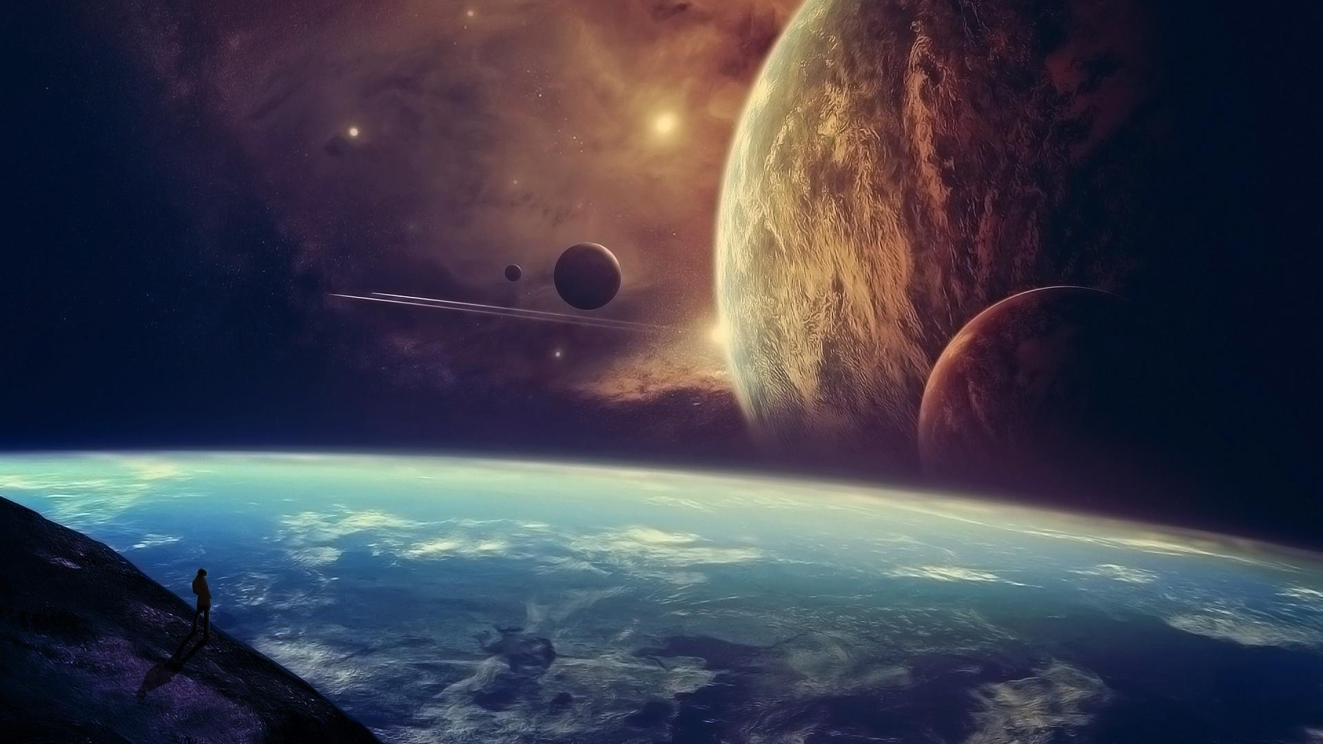 Space Earth Wallpaper Sf Wallpaper