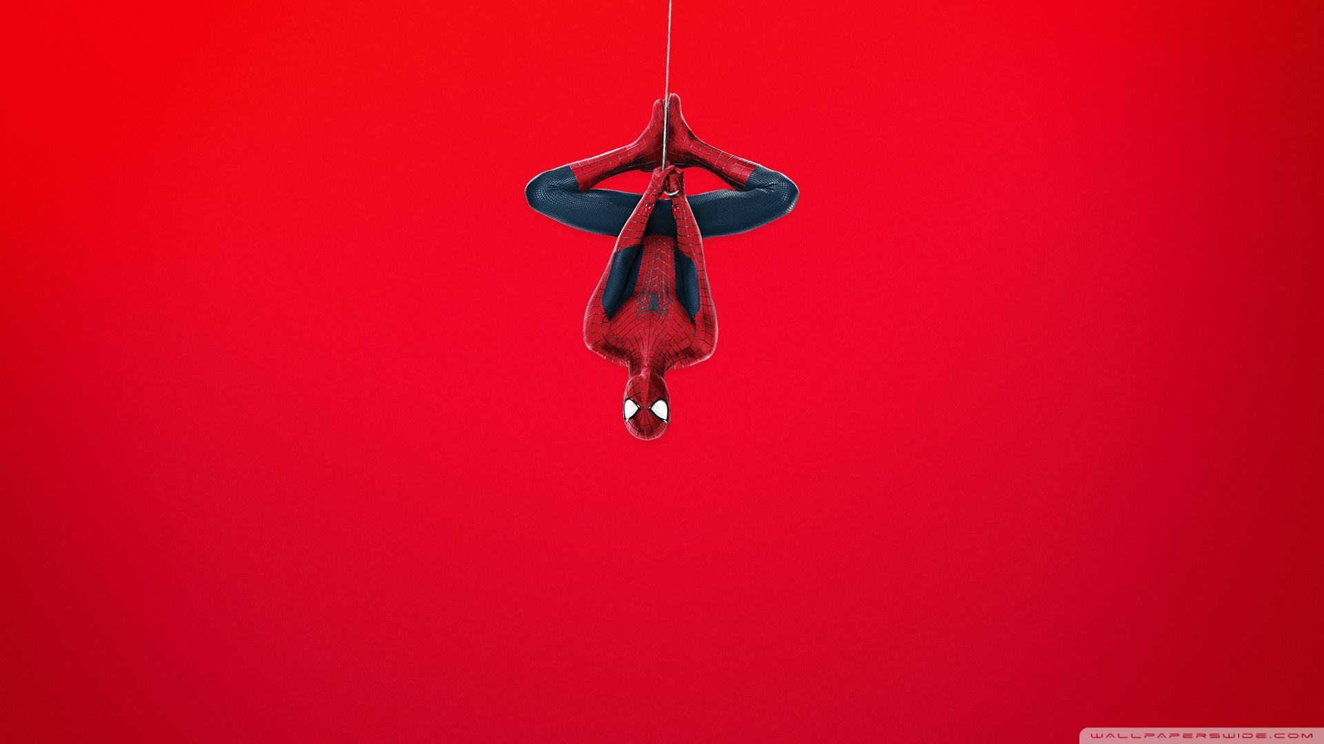 Spider Man (Red Background) HD desktop wallpaper : Widescreen