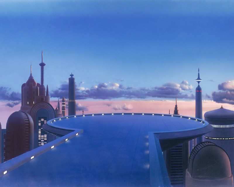 Detailed Background Paintings from 'The Empire Strikes Back' and