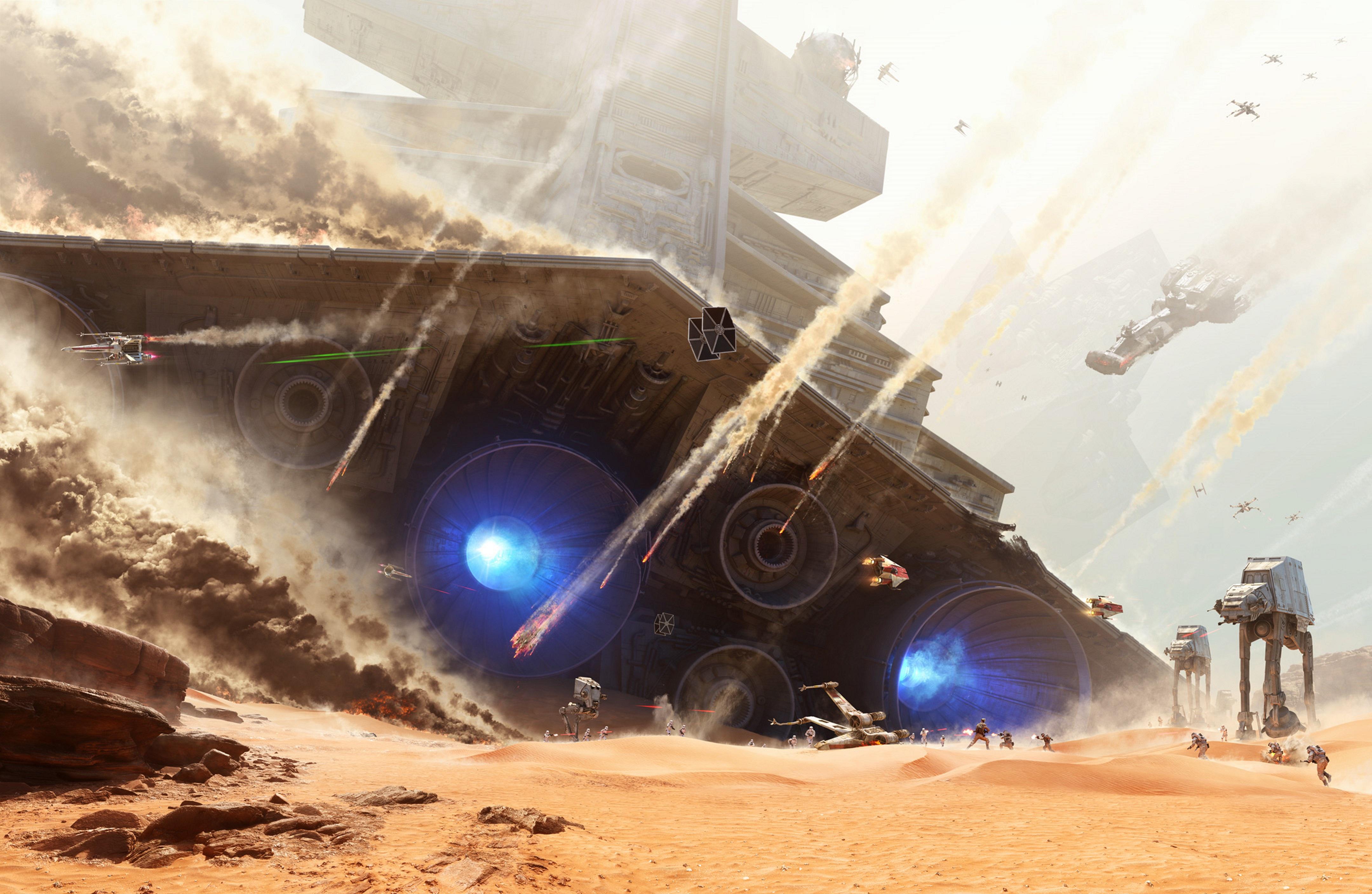 Star Wars Battlefront - Battle of Jakku [Hi-Res Textless Wallpaper
