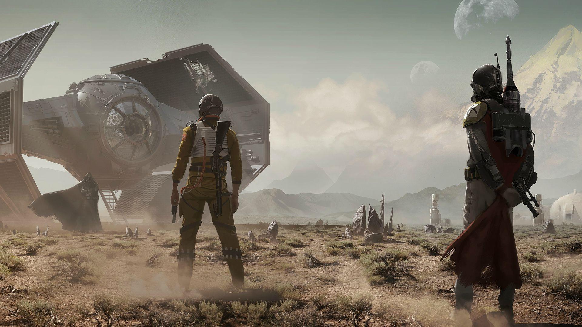 Star Wars, Mandalorians, TIE Advanced, Bounty Hunter Wallpapers HD