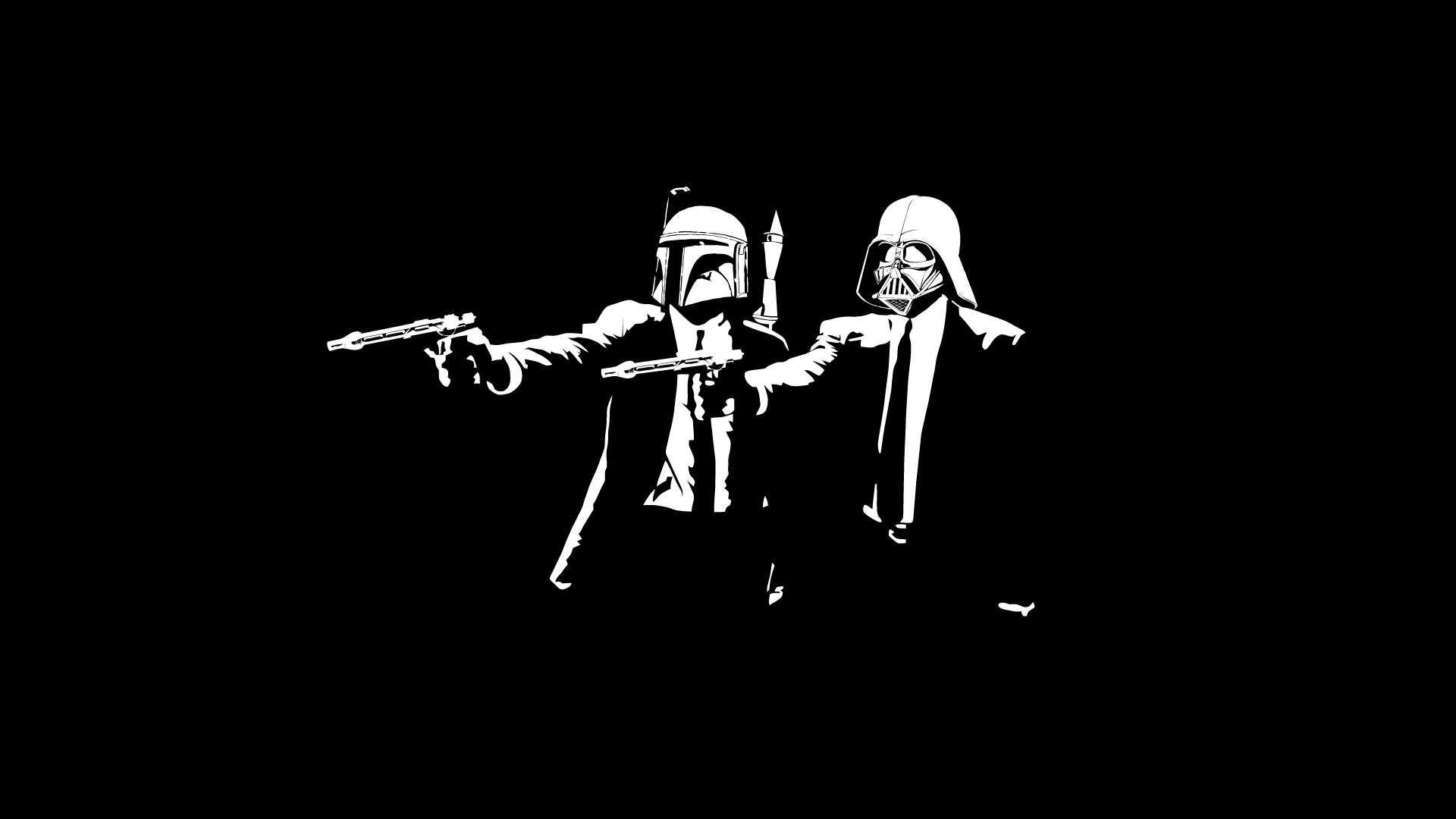 Pulp Fiction Star Wars Bounty Hunters Wallpaper by HD Wallpapers Daily