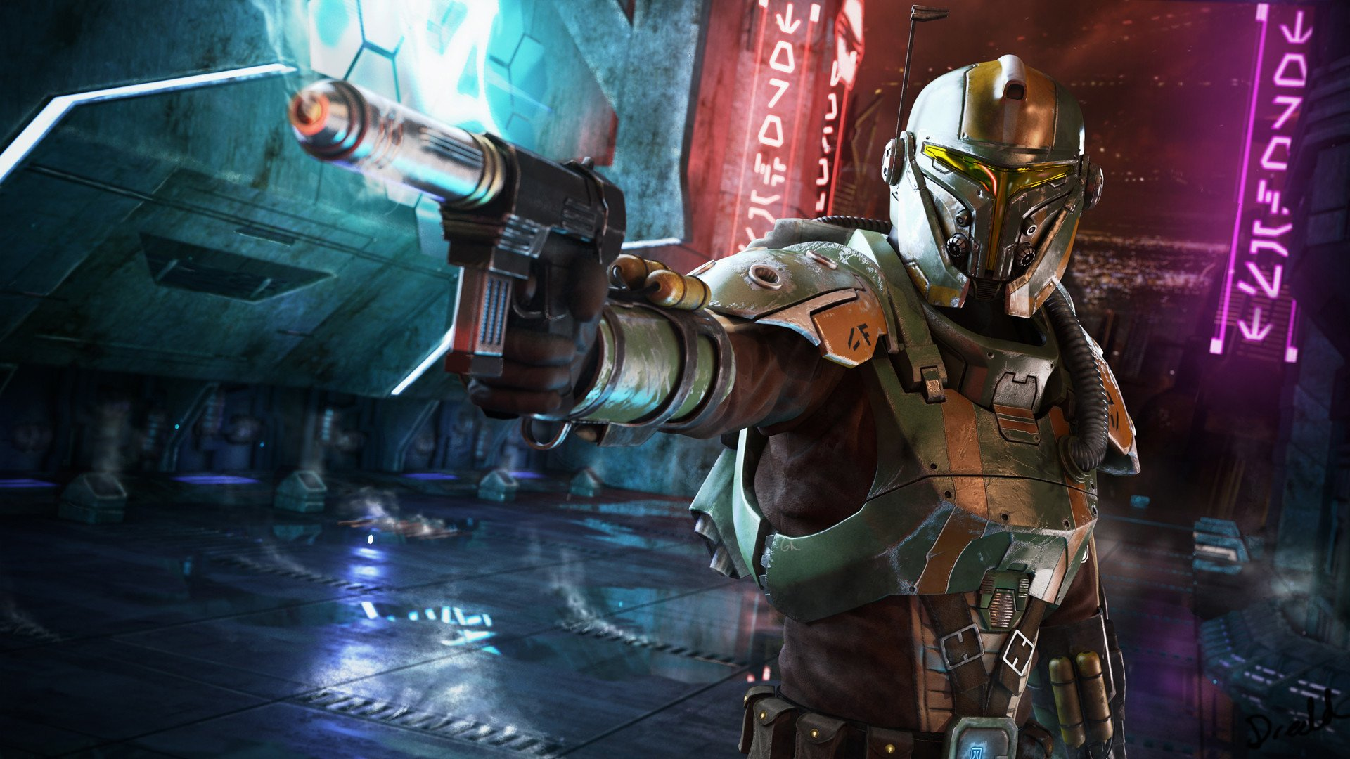 30 Bounty Hunter HD Wallpapers | Backgrounds - Wallpaper Abyss