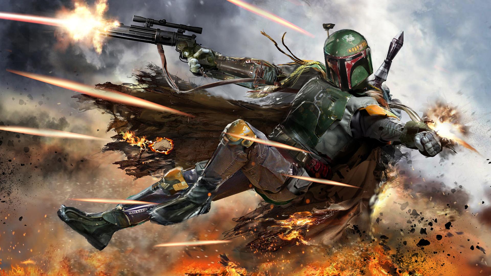 Wallpapers Rifles Soldiers Star Wars: Episode II Boba Fett, bounty