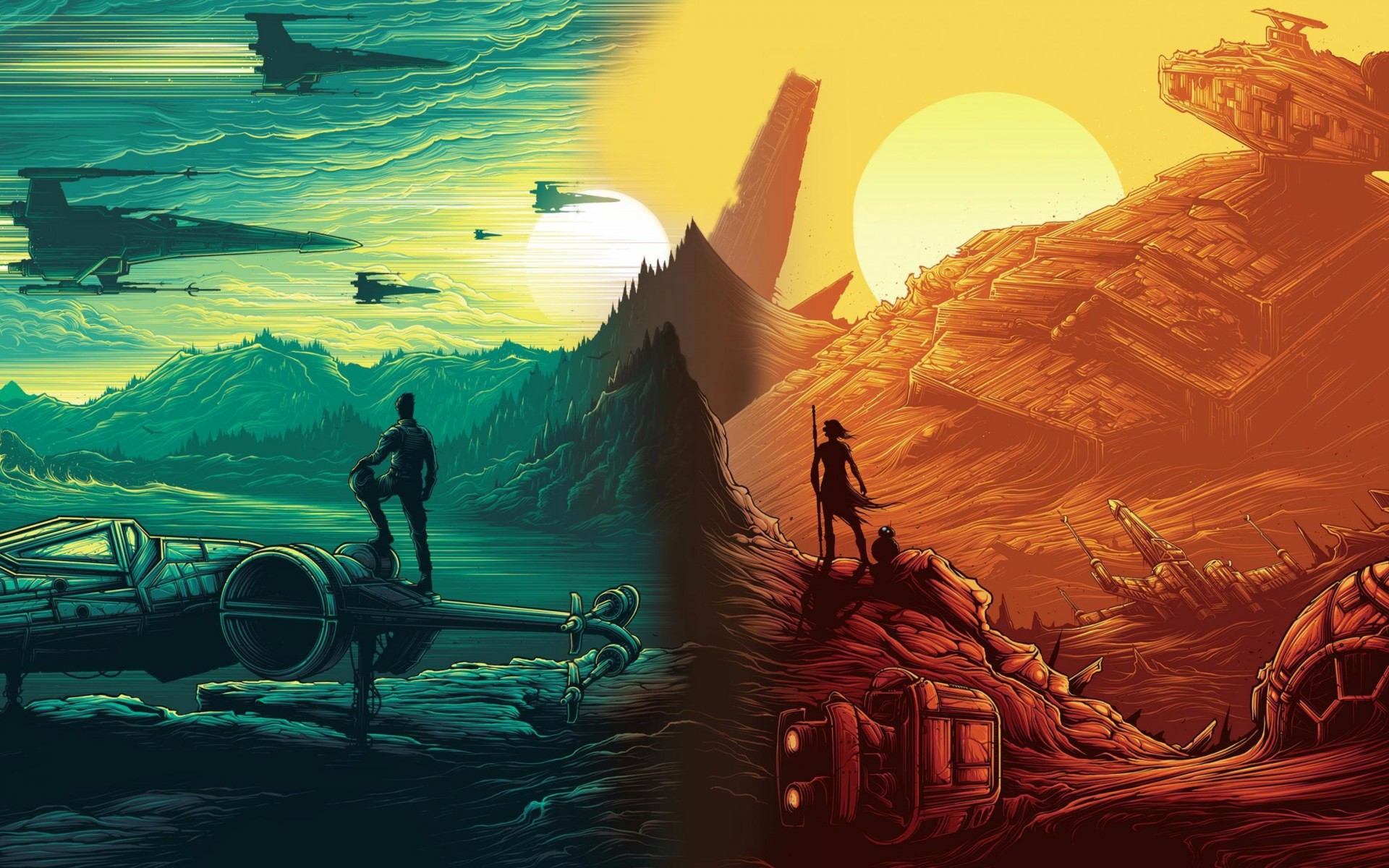 Star Wars Cartoon Wallpaper Sf Wallpaper