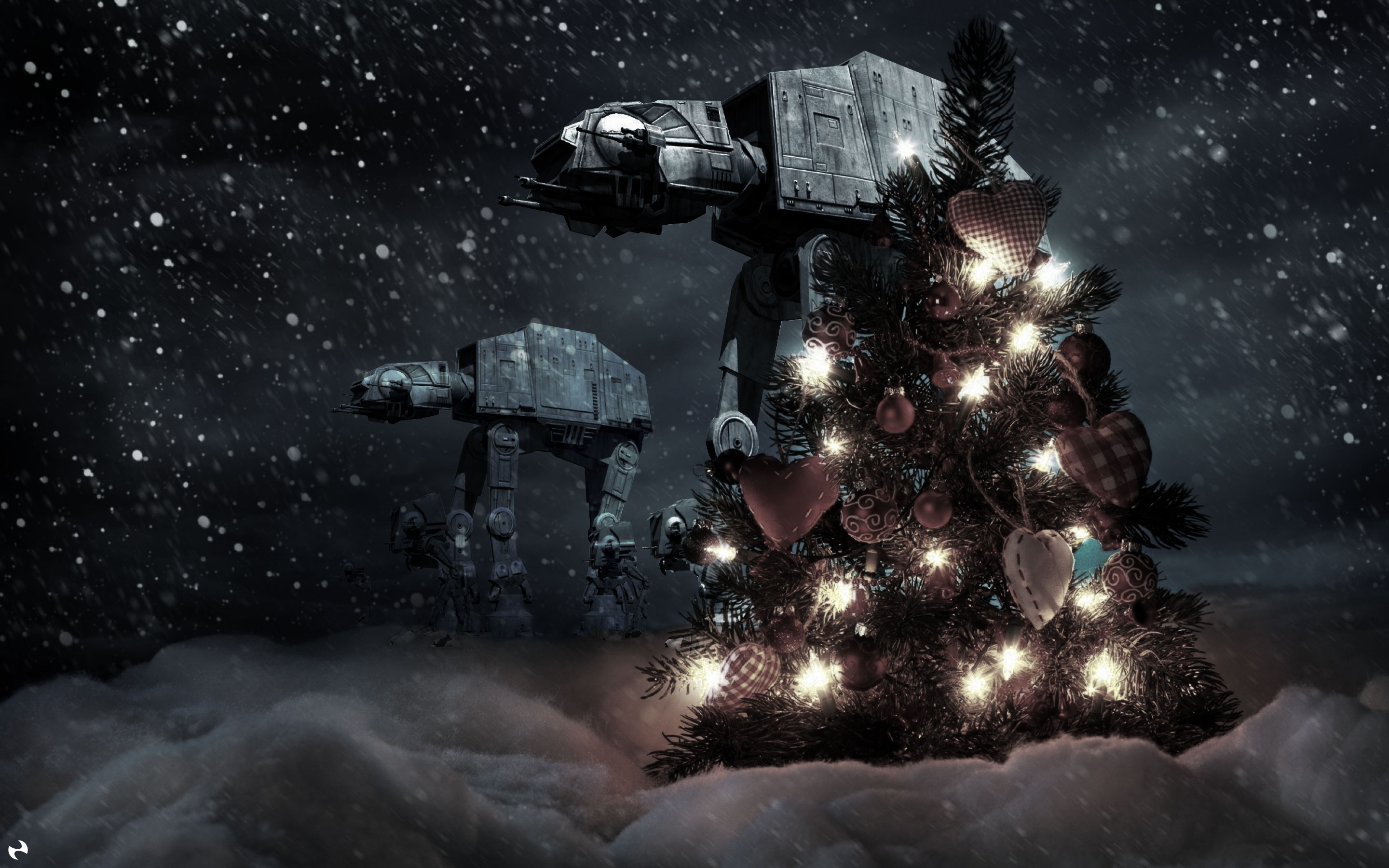 star wars christmas wallpaper - sf wallpaper