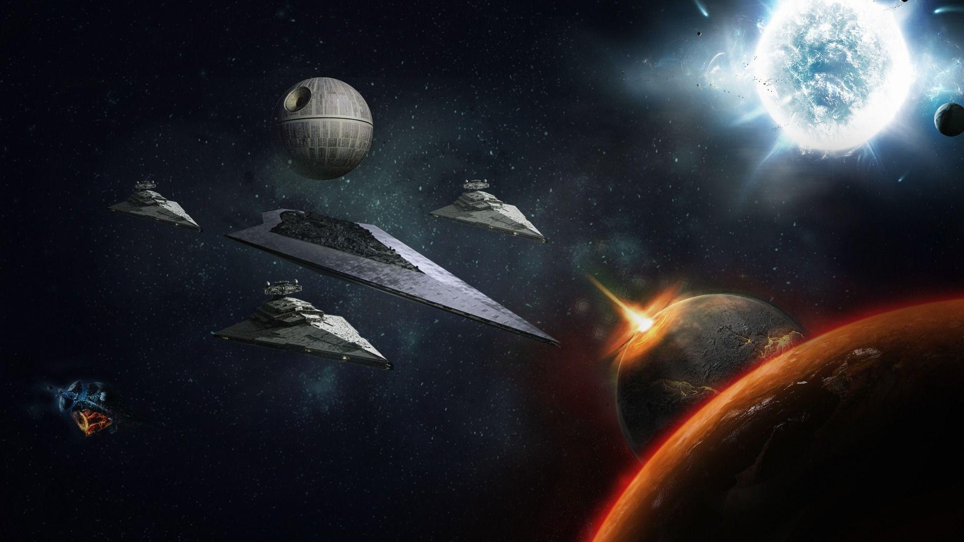 Star Wars Death Star Wallpaper Sf Wallpaper