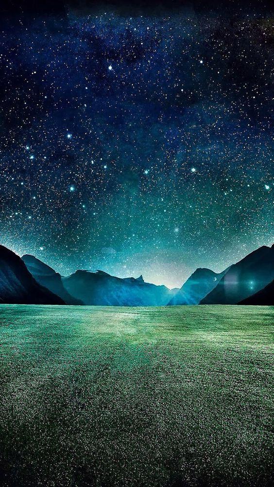 Starry night iphone 5 wallpaper - SF Wallpaper
