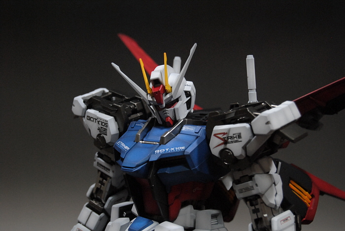 PG GAT-X105 Aile Strike Gundam: Assembled, Painted  Photoreview No