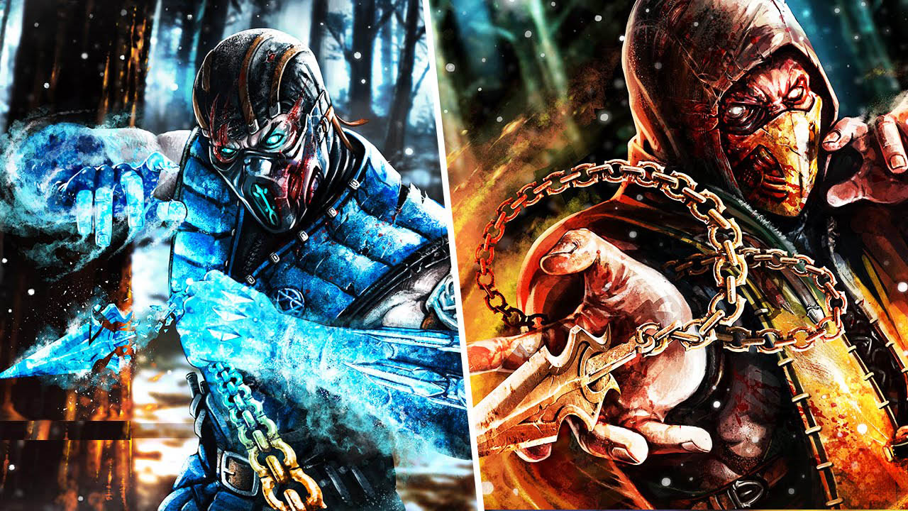 Mortal Kombat Artwork Sub Zero Scorpion