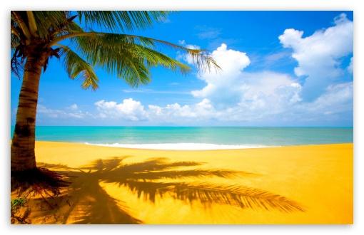Gorgeous Beach In Summertime HD desktop wallpaper : Widescreen