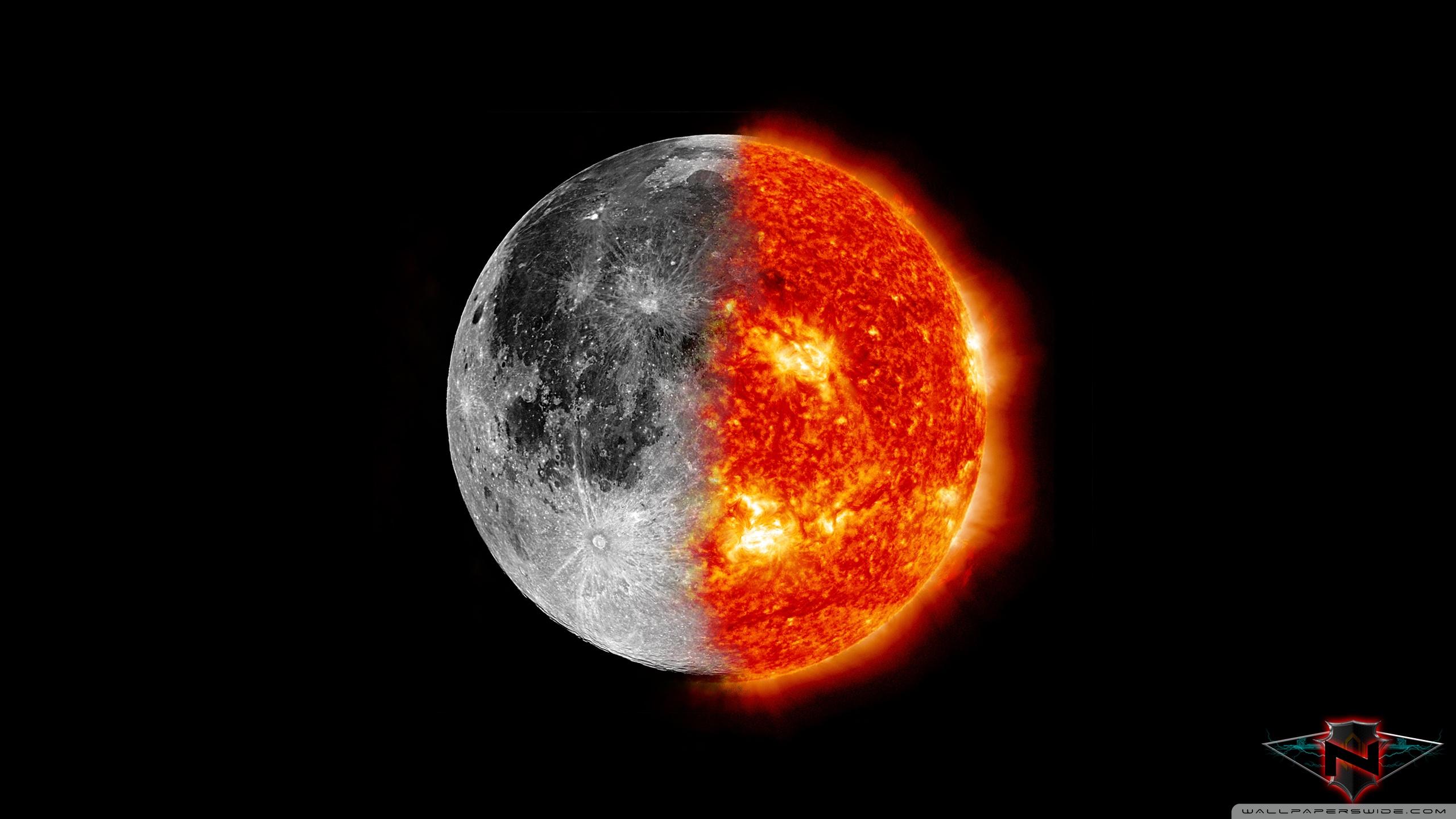 Sun and Moon HD desktop wallpaper : High Definition : Fullscreen