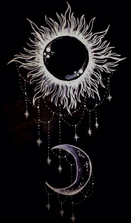 Sun and moon | Phone Backgrounds | Pinterest | Sun
