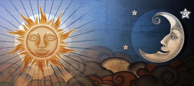 Sun And Moon Wallpaper, 42 Sun And Moon High Resolution