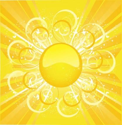 Sun sun background vector 3 | free vectors | UI Download