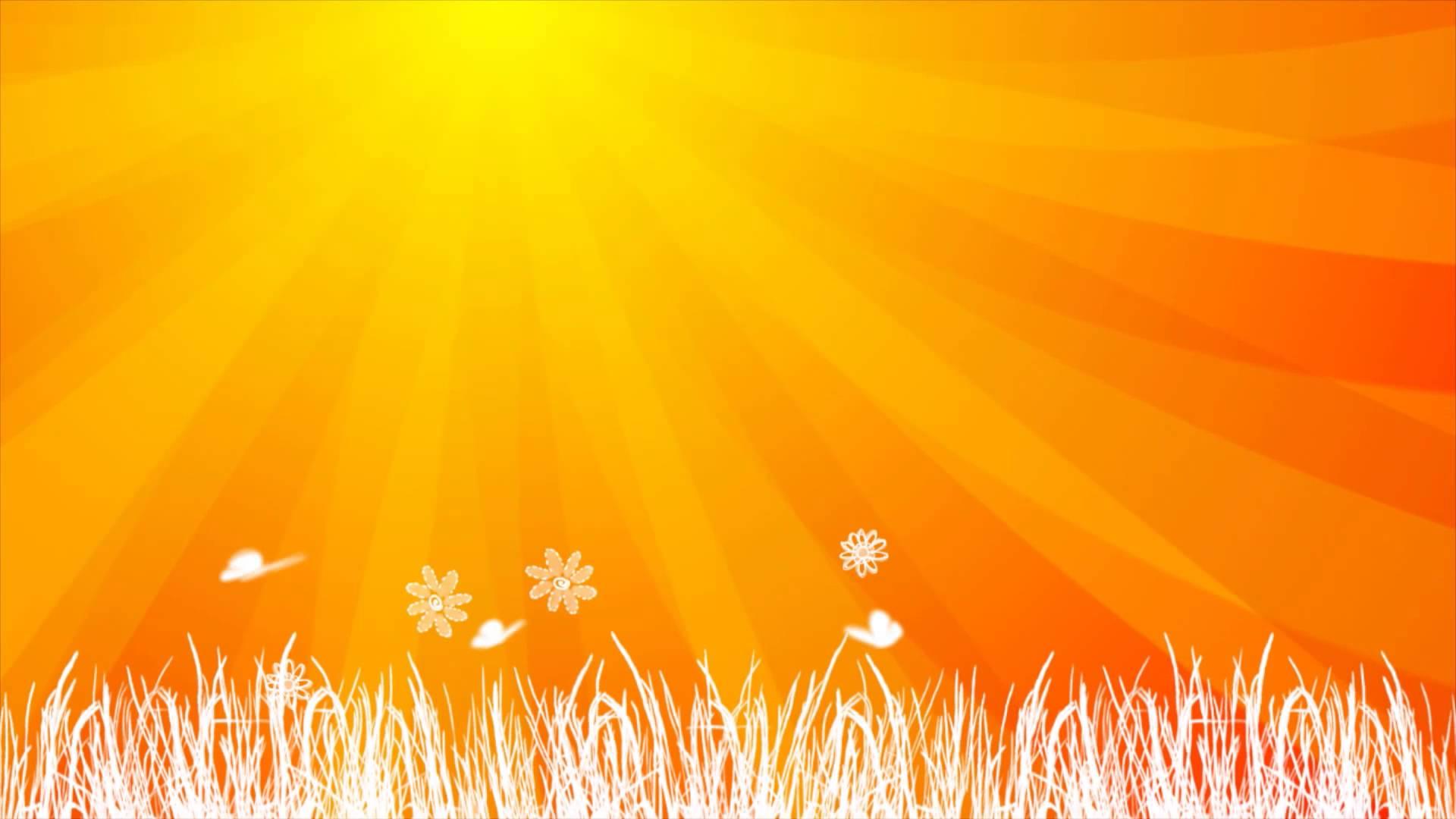 Orange Sun Background Animation HD - YouTube