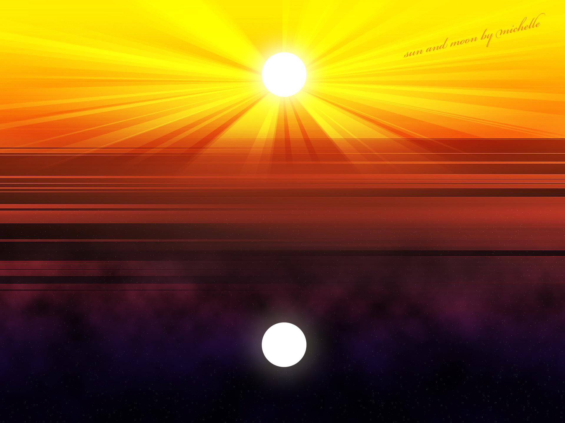 Sun And Moon Backgrounds - WallpaperSafari
