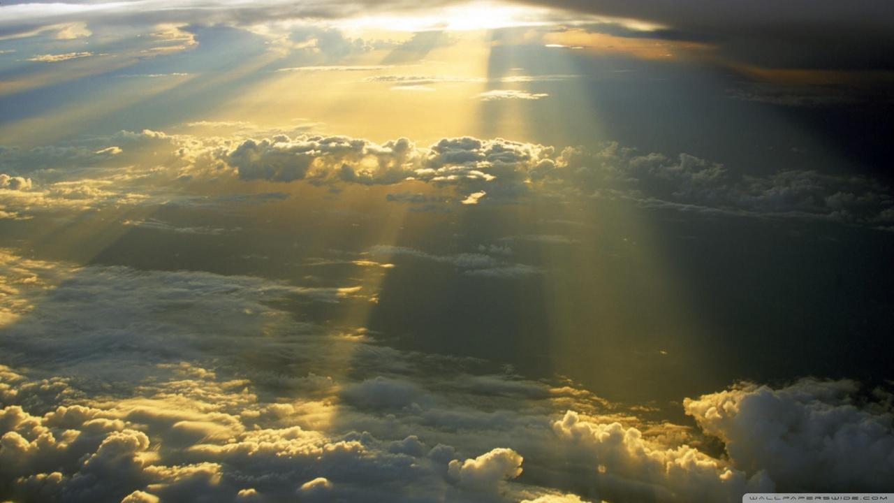 Sun Rays Through The Clouds HD desktop wallpaper : Widescreen