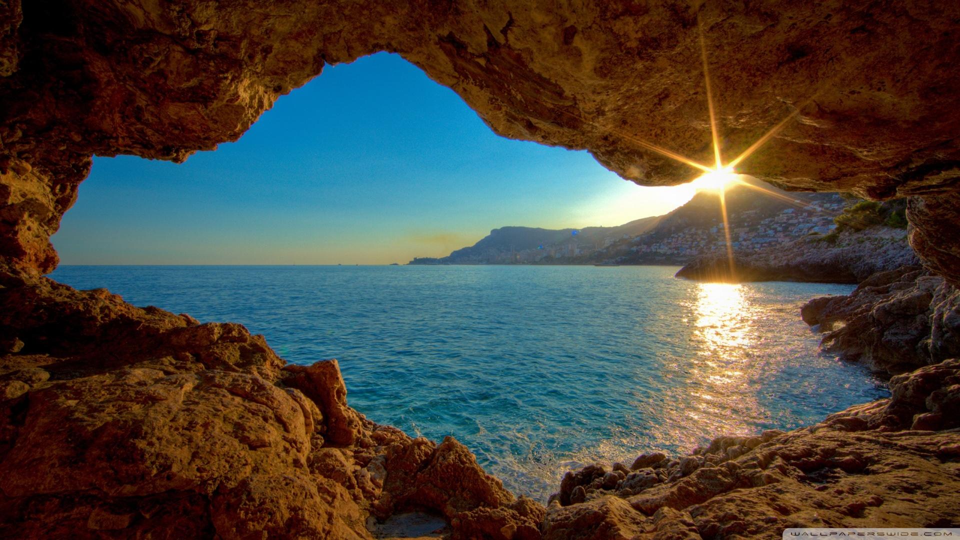 Sunshine Ocean HD desktop wallpaper : Widescreen : Fullscreen