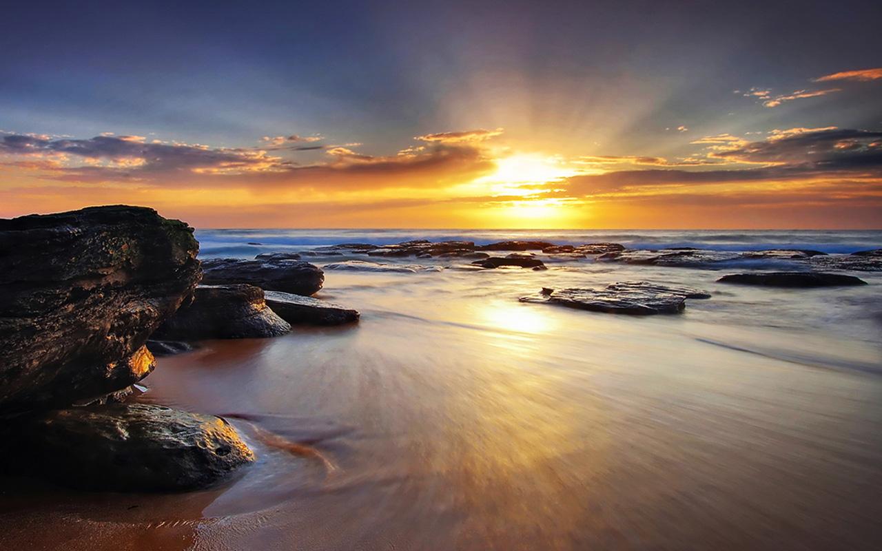 sunrise beach wallpaper - sf wallpaper