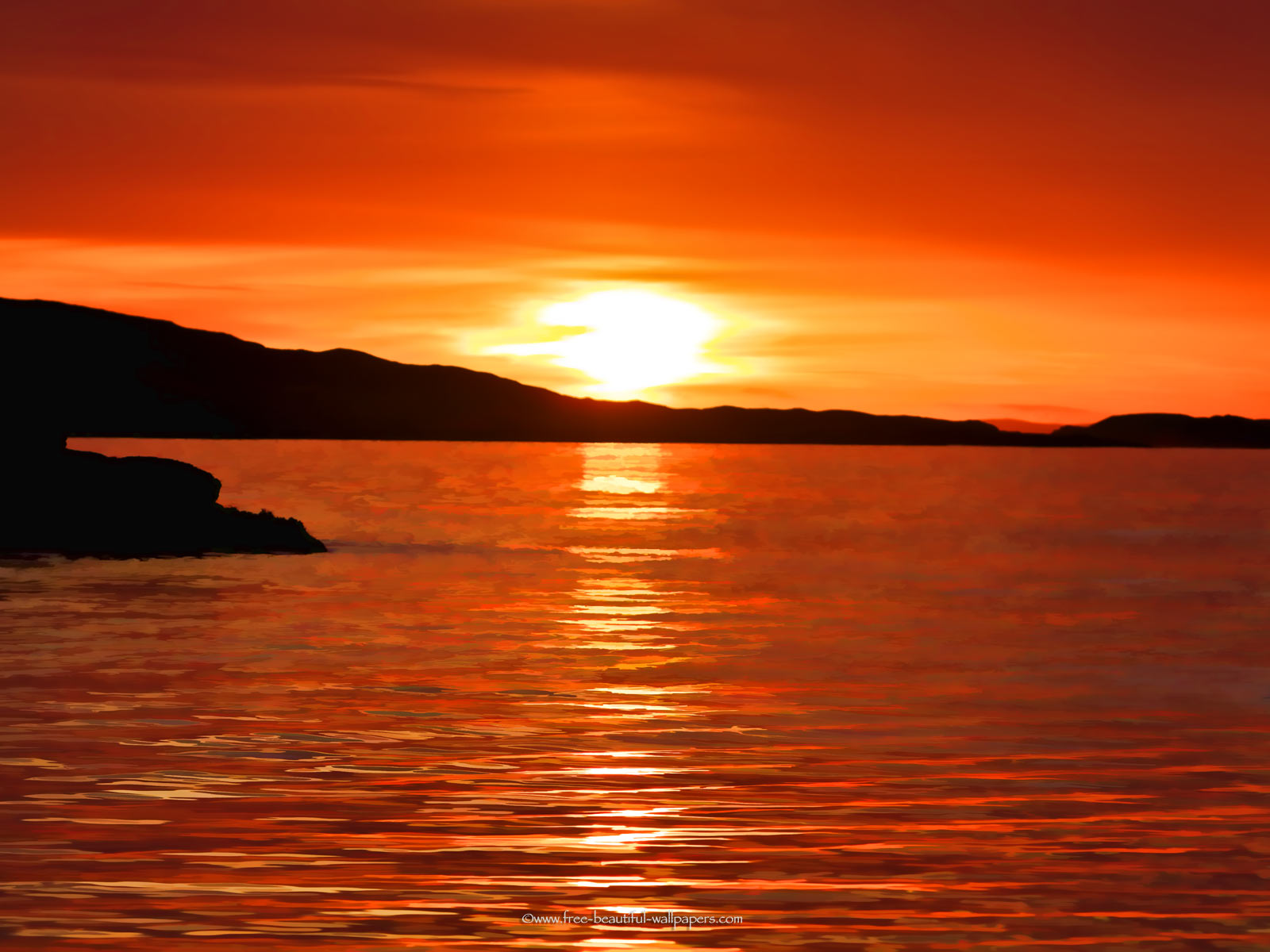 sunset ocean wallpaper - sf wallpaper