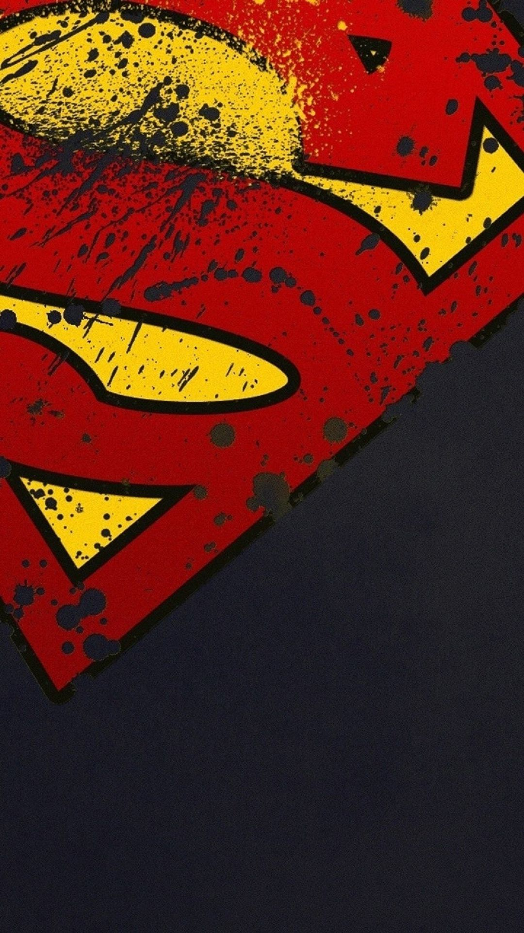 Superman Logo Minimal iPhone 6 Plus HD Wallpaper / iPod Wallpaper
